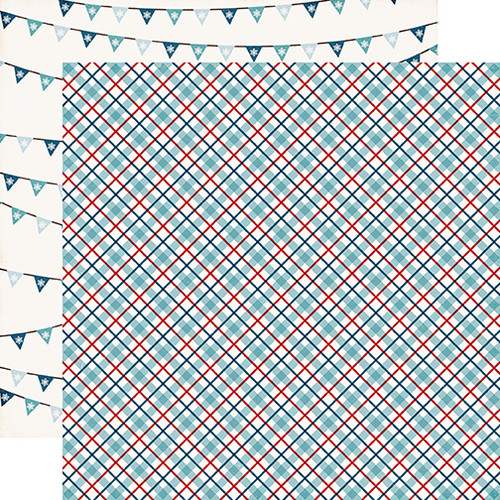 I Love Winter Collection Snow Day 12 x 12 Double-Sided Scrapbook Paper by Echo Park Paper