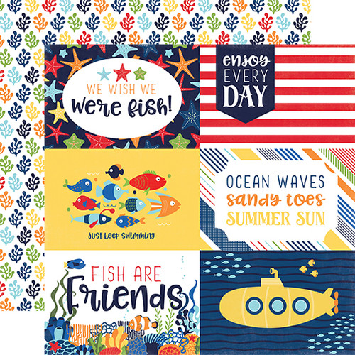 Under The Sea Collection 4 x 6 Journaling Cards 12 x 12 Double-Sided Scrapbook Paper by Echo Park Paper