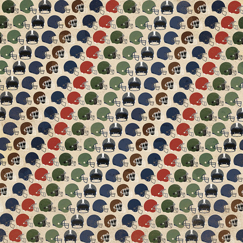 End Zone Collection Tailgate 12 x 12 Double-Sided Scrapbook Paper by Photo Play Paper