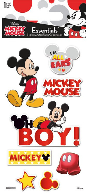 Disney Collection Mickey Mouse Essentials 3 x 5 Scrapbook Embellishment by Sandylion
