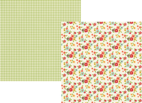 Happy Harvest Collection Grateful Hearts 12 x 12 Double-Sided Scrapbook Paper by Simple Stories