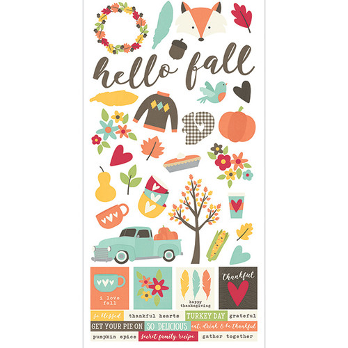 Happy Harvest Collection 6 x 12 Cardstock Sticker Sheet by Simple Stories