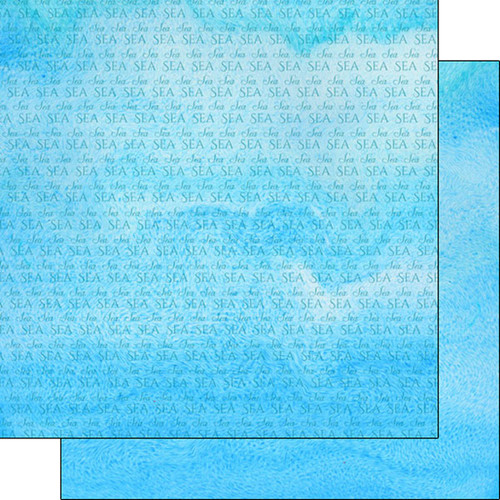 Watercolor Collection Sea 12 x 12 Double-Sided Scrapbook Paper by Scrapbook Customs