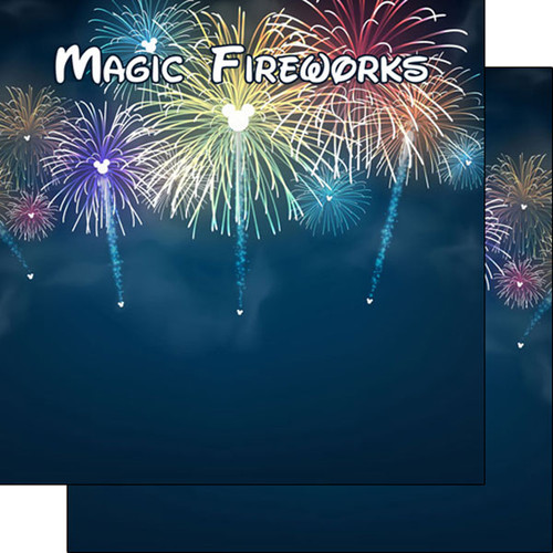 Magical Day of Fun Collection Magic Fireworks 12 x 12 Double-Sided Scrapbook Paper by Scrapbook Customs