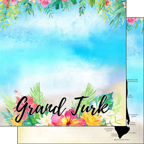 Getaway Collection Grand Turk 12 x 12 Double-Sided Scrapbook Paper by Scrapbook Customs