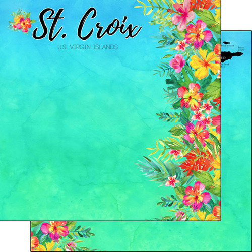 Getaway Collection St. Croix 12 x 12 Double-Sided Scrapbook Paper by Scrapbook Customs