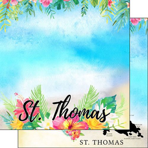 Getaway Collection St. Thomas 12 x 12 Double-Sided Scrapbook Paper by Scrapbook Customs