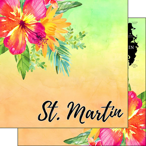Getaway Collection St. Martin 12 x 12 Double-Sided Scrapbook Paper by Scrapbook Customs