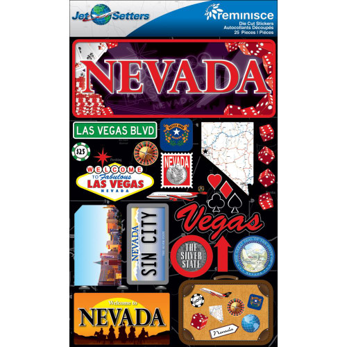 Jetsetter Collection Nevada 5 x 7 Scrapbook Embellishment by Reminisce