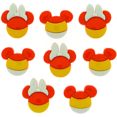 Disney Dress It Up Holiday Collection Mickey Mouse & Minnie Mouse Halloween Candy Corn Scrapbook Button Embellishments by Jesse James Buttons