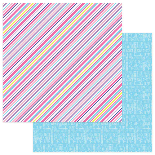 I Love Gymnastics Collection I Love Gymnastics 12 x 12 Double-Sided Scrapbook Paper by Photo Play Paper