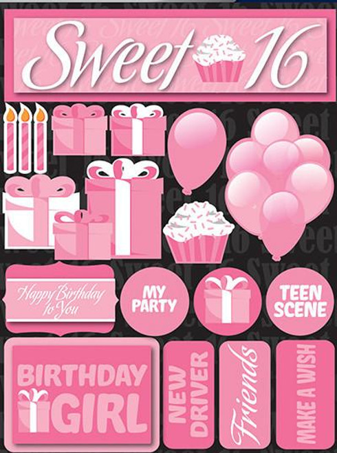 Signature Series Collection Sweet 16 5 x 6 Scrapbook Embellishment by Reminisce