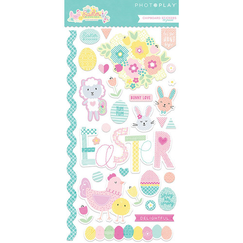 Easter Blessings Collection 6 x 12 Chipboard Stickers by Photoplay Paper - 30 Pieces