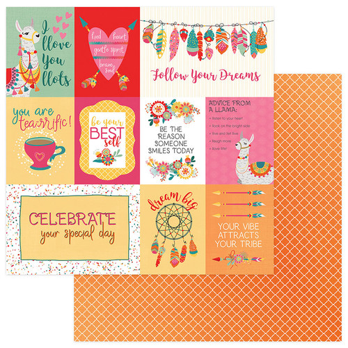 Paprika Collection Llove Llife 12 x 12 Double-Sided Scrapbook Paper by Photoplay Paper