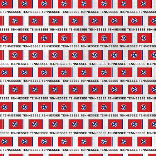 Travel Adventure Collection Tennessee Flag 12 x 12 Double-Sided Scrapbook Paper by Scrapbook Customs
