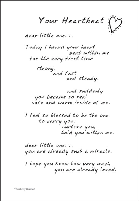 A Poem For A Page Collection Your Heartbeat 5 x 7 Scrapbook Sticker Sheet by It Takes Two