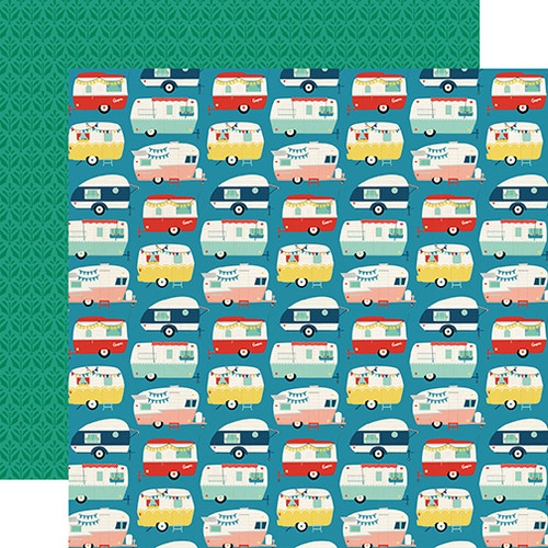 Good Day Sunshine Collection Happy Camper 12 x 12 Double-Sided Scrapbook Paper by Echo Park Paper