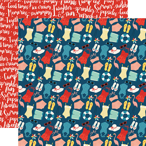 Good Day Sunshine Collection Summertime 12 x 12 Double-Sided Scrapbook Paper by Echo Park Paper