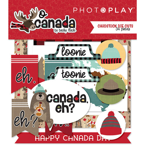 O Canada Collection O Canada 5 x 5 Scrapbook Cardstock Die Cuts by Photo Play Paper