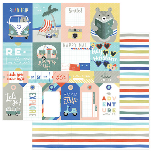 Let's Go! Collection Let's Go 12 x 12 Double-Sided Scrapbook Paper by Photo Play Paper