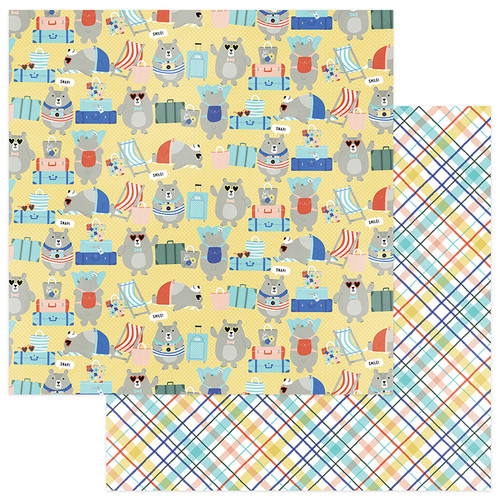 Let's Go! Collection Vacay 12 x 12 Double-Sided Scrapbook Paper by Photo Play Paper