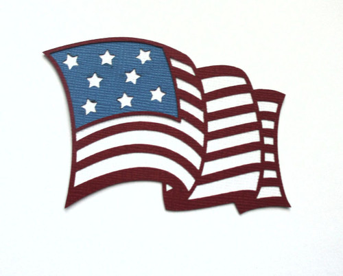 US Flag Fully-Assembled 2.25 x 3 Laser Cut by SSC Laser Designs