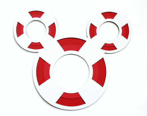 Disneyana Fully-Assembled Life Preserver Laser Cut by SSC Laser Designs (original design by Miss Kate Cuttables)