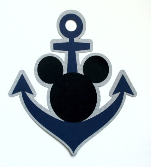 Disneyana Fully-Assembled 5 x 6 Cruise Anchor Laser Cut by SSC Laser Designs (original design by Miss Kate Cuttables)