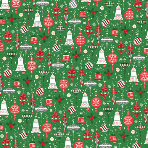Here Comes Santa Collection Trimmings 12 x 12 Double-Sided Scrapbook Paper by Photo Play Paper