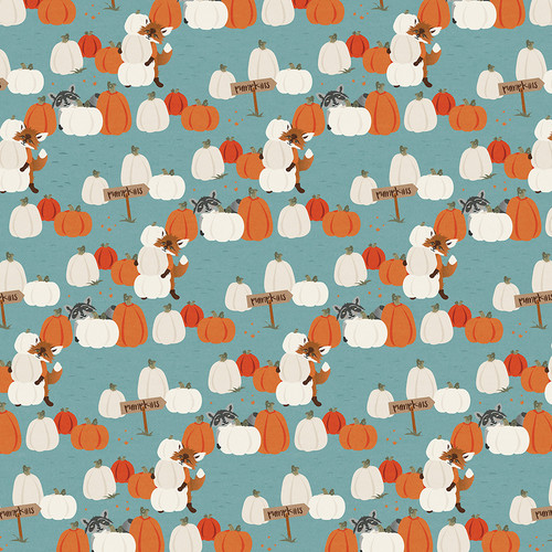 Fall Breeze Collection Pumpkin Patch 12 x 12 Double-Sided Scrapbook Paper by Photo Play Paper