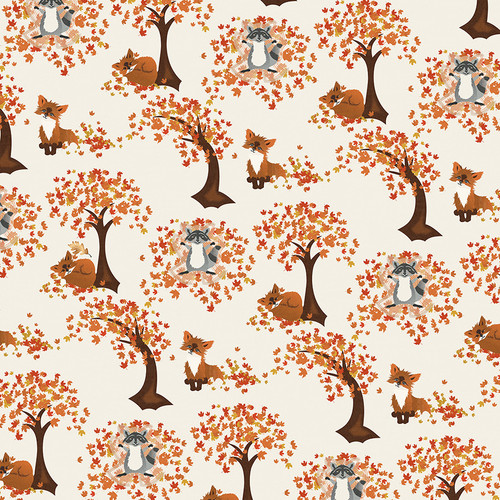 Fall Breeze Collection Leaf Play 12 x 12 Double-Sided Scrapbook Paper by Photo Play Paper