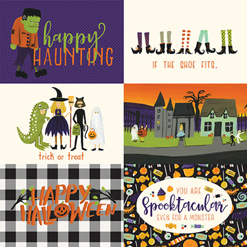 Hocus Pocus Collection 4 x 6 Journaling cards 12 x 12 Double-Sided Scrapbook Paper by Echo Park Paper