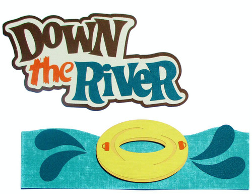 Down The River Title Fully-Assembled 7 x 9 Laser Cut Scrapbook Embellishment by SSC Laser Designs