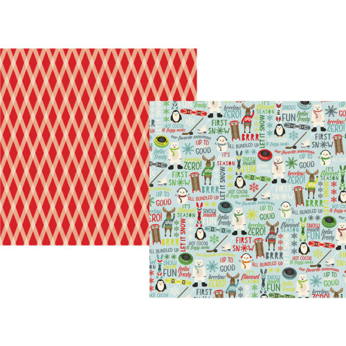 Sub Zero Collection Feelin' Frosty 12 x 12 Double-Sided Scrapbook Paper by Simple Stories