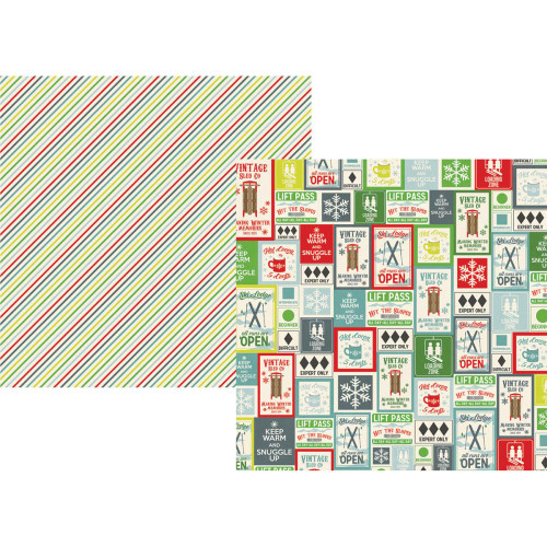 Sub Zero Collection Just Chillin' 12 x 12 Double-Sided Scrapbook Paper by Simple Stories