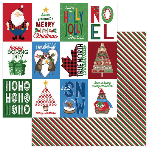O Canada Christmas Collection Merry Christmoose 12 x 12 Double-Sided Scrapbook Paper by Photo Play Paper