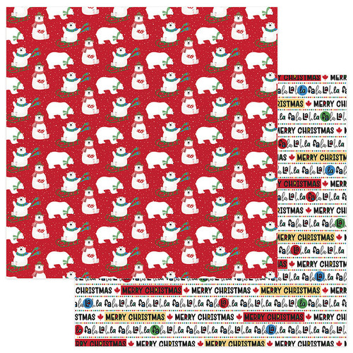O Canada Christmas Collection Polar Games 12 x 12 Double-Sided Scrapbook Paper by Photo Play Paper