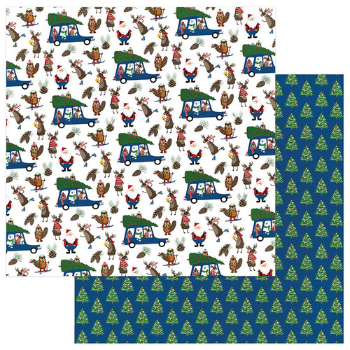 O Canada Christmas Collection Tree Farm 12 x 12 Double-Sided Scrapbook Paper by Photo Play Paper