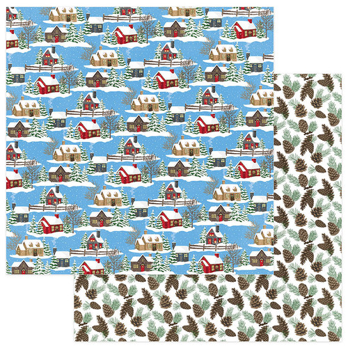 O Canada Christmas Collection Through the Woods 12 x 12 Double-Sided Scrapbook Paper by Photo Play Paper