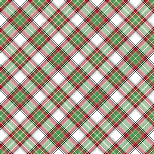 O Canada Christmas Collection Flannel Shirt 12 x 12 Double-Sided Scrapbook Paper by Photo Play Paper
