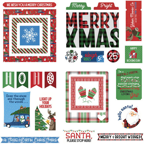 O Canada Christmas Collection Ephemera 5 x 5 Scrapbook Die Cuts by Photo Play Paper