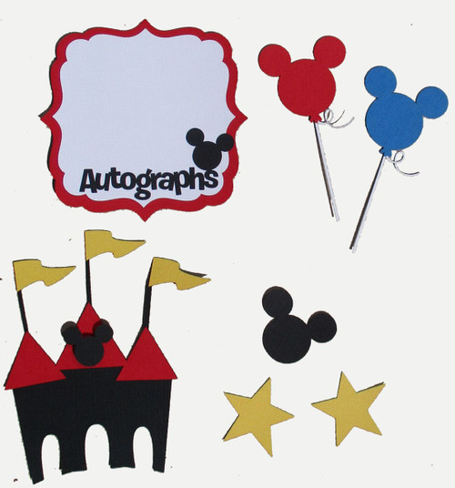 Disneyana Autographs & Accessories Fully-Assembled Laser Cut Scrapbook Embellishment by SSC Laser Designs (original design by Miss Kate Cuttables)