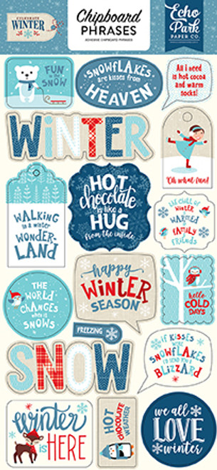 Celebrate Winter Collection 6 x 12 Chipboard Phrases by Echo Park Paper