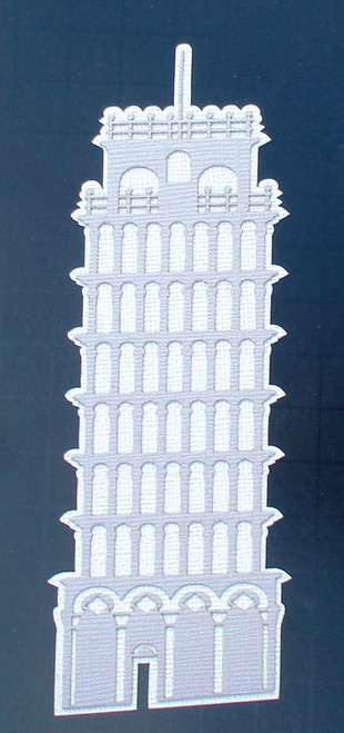 Tower of Pisa 2.5 x 6 Laser Cut Scrapbook Embellishment by SSC Laser Designs