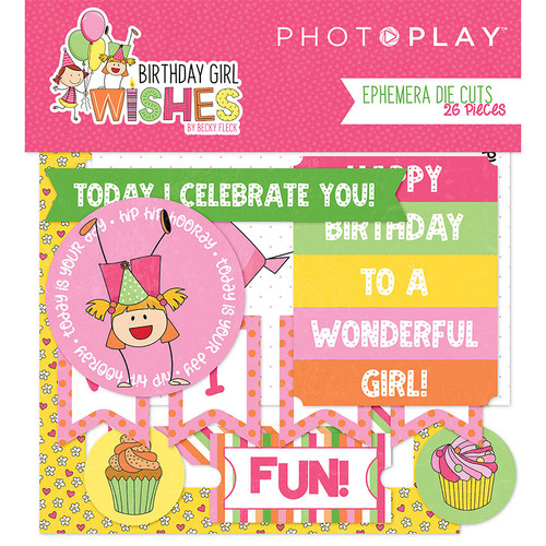 Birthday Girl Wishes Collection 4 x 4 Ephemera by Photo Play Paper