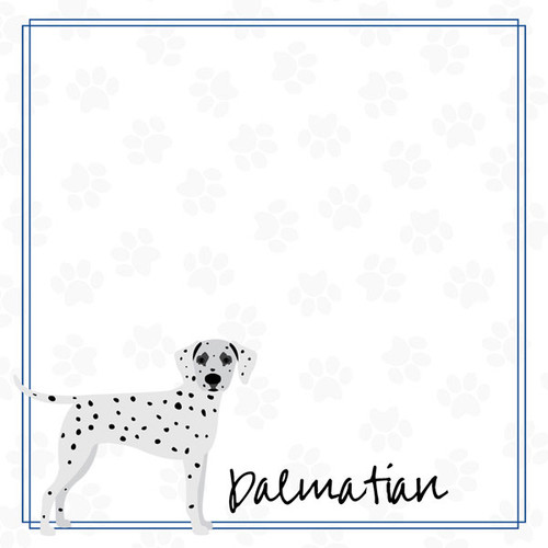 Puppy Love Collection Dalmatian 12 x 12 Double-Sided Scrapbook Paper by Scrapbook Customs