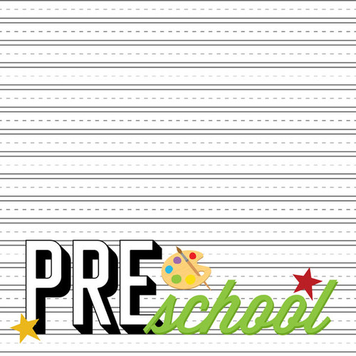 Back To School Collection 6 x 8 Scrapbook Sticker Sheet by Scrapbook Customs