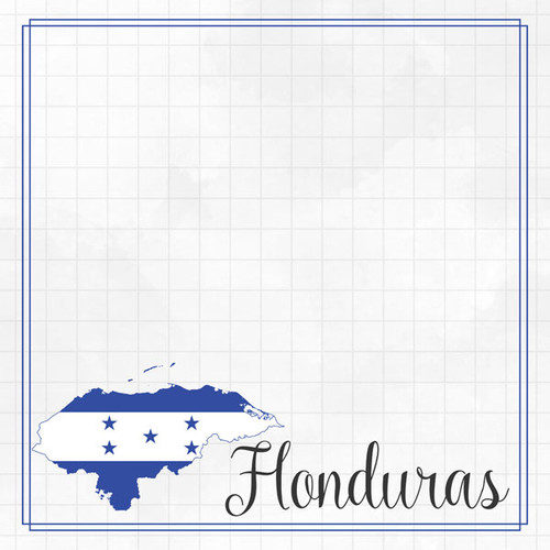 Travel Adventure Collection Honduras Border 12 x 12 Double-Sided Scrapbook Paper by Scrapbook Customs