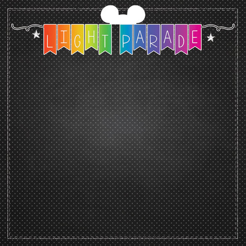 Magical Day of Fun Collection Light Parade  12 x 12 Double-Sided Scrapbook Paper by Scrapbook Customs