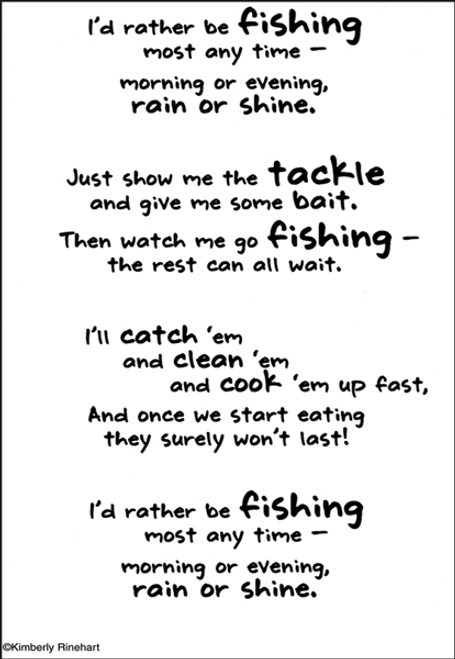 A Poem For A Page Collection Fishing 5 x 7 Scrapbook Sticker Sheet by It Takes Two